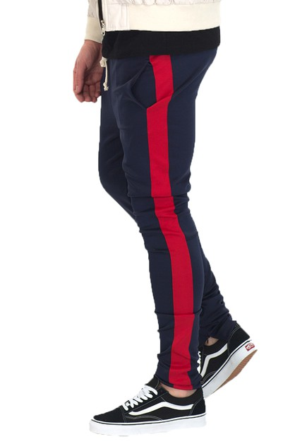 SKINNY SINGLE STRIPE TRACK PANT - orangeshine.com