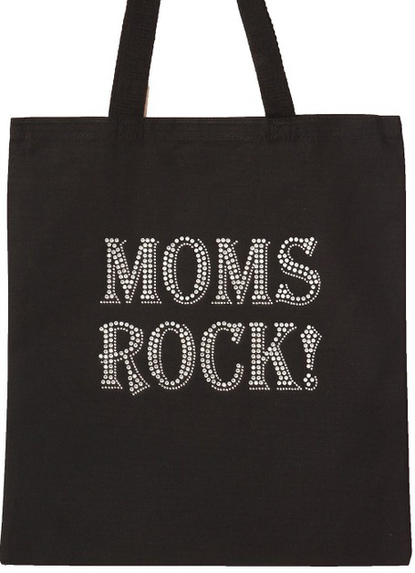 MOMS ROCKS Tote Bag - orangeshine.com