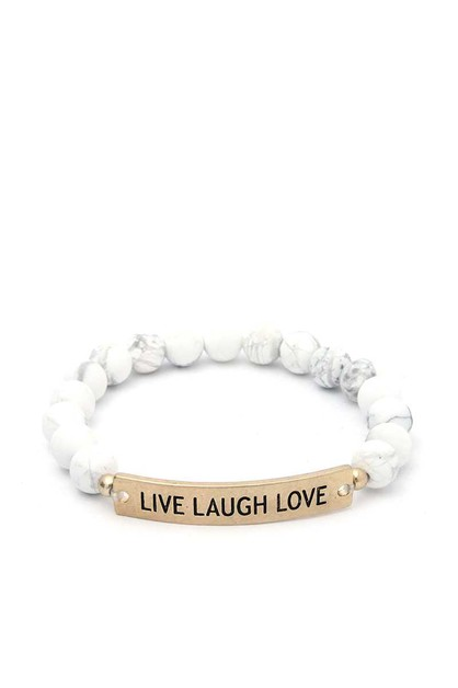 LIVE LAUGH LOVE BEADED BRACELET - orangeshine.com