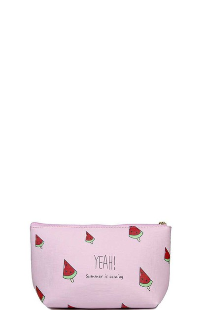 SUMMER IS COMING WATER MELON POUCH - orangeshine.com