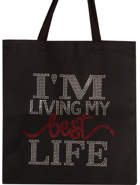 I`M LIVING MY BEST LIFE  TOTE - orangeshine.com