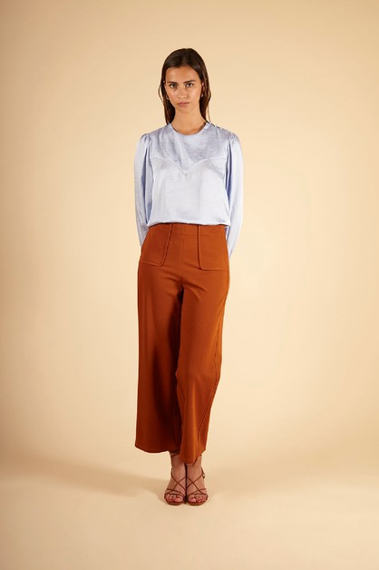 CLEMENCIA - WOMENS WOVEN TOP - orangeshine.com