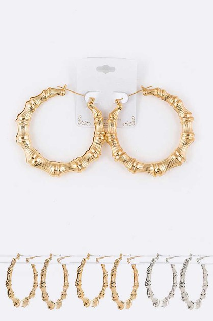 Medium Size Bamboo Hoops - orangeshine.com