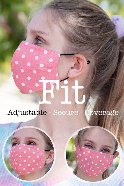 DOTTED COTTON FITTED REUSABLE FACE M - orangeshine.com