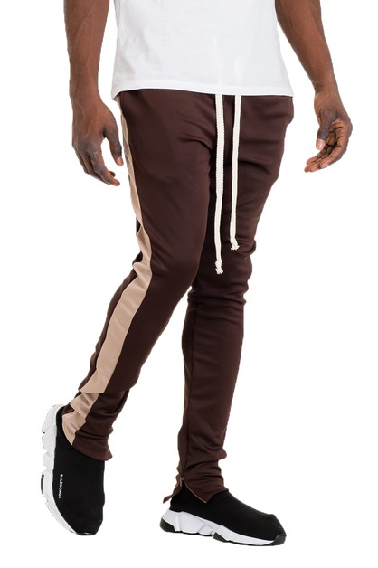 SKINNY SINGLE STRIPE TRACK PANTS - orangeshine.com