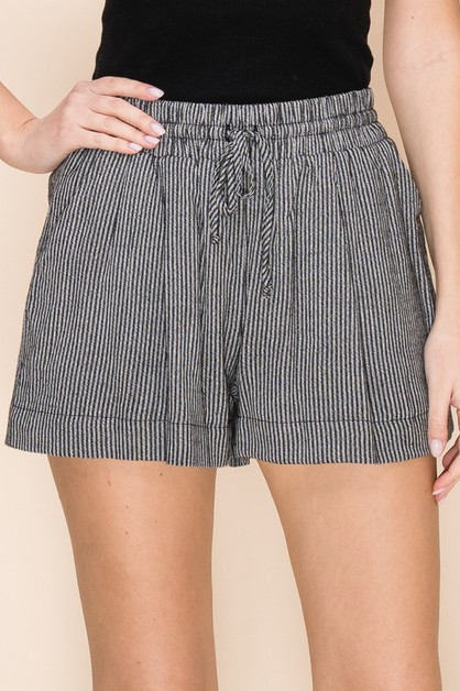 STRIPE DRAWSTRING SHORTS - orangeshine.com