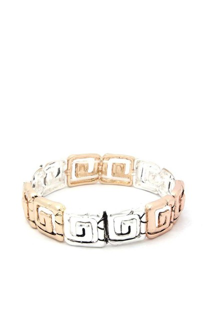 SQAURE SHAPE METAL STRETCH BRACELET - orangeshine.com
