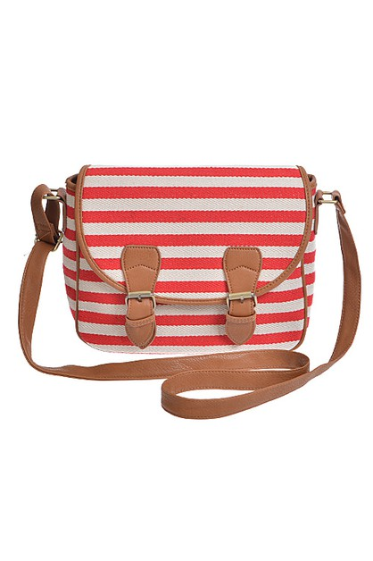 Striped Clutch Handbag  - orangeshine.com