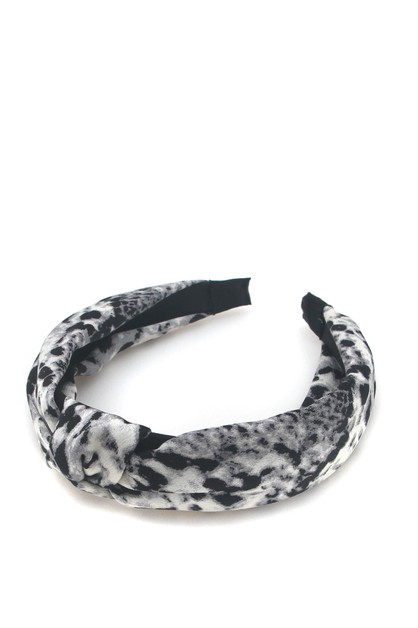 SNAKE SKIN PRINTED HAIR BAND - orangeshine.com