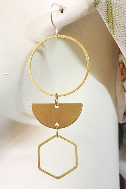 Geometric earrings - orangeshine.com