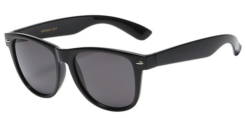 Black Rounded Shape Sunglasses - orangeshine.com