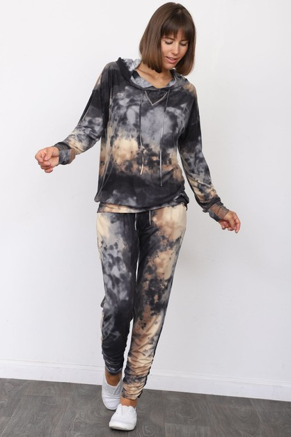 Tie Dye Jogger and Hoodie Set - orangeshine.com
