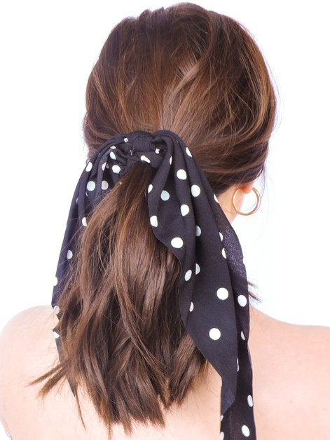 Retro Dot Scrunchie Scarf Set - orangeshine.com