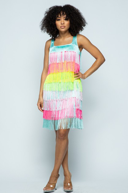 Fringe Dress - orangeshine.com