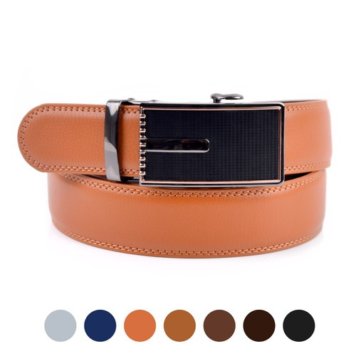 Men Sliding Buckle Ratchet Belt - orangeshine.com
