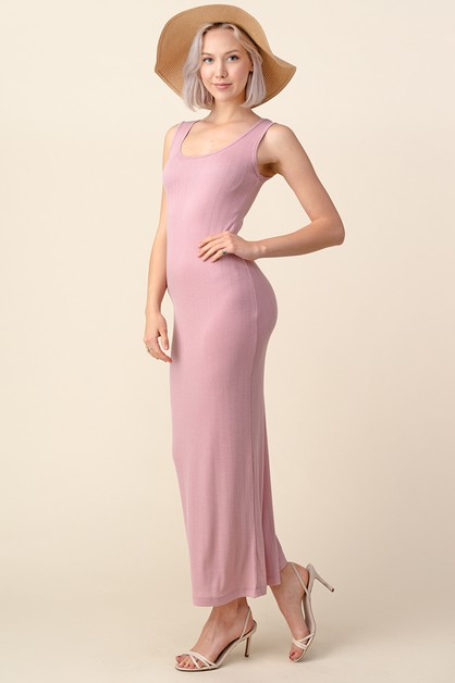 POINTELLE TANK LONG MAXI DRESS - orangeshine.com