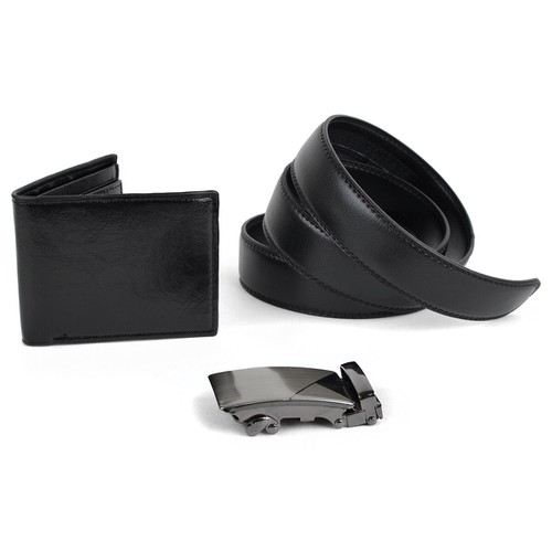 Men Black Wallet and Belt Sets - orangeshine.com