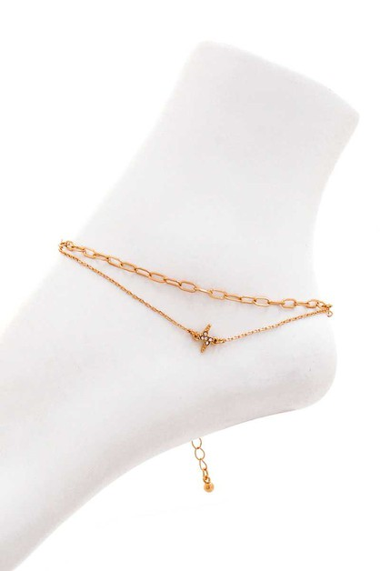 CHIC DOUBLE LAYER ANKLET - orangeshine.com