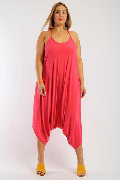 Harem Jumpsuit Plus Size - orangeshine.com