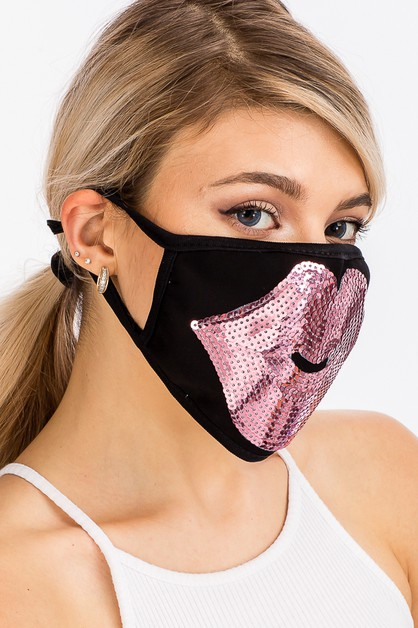 Pink Lips Patch Face Mask - orangeshine.com