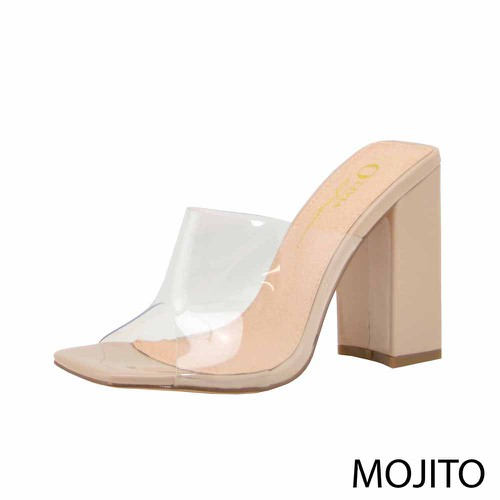 SLIDE IN CLEAR UPPER HEEL SANDAL - orangeshine.com