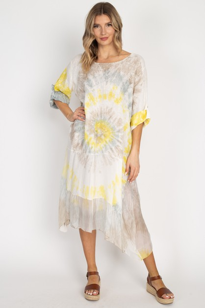 9055 Dress (Tye Dye) - orangeshine.com