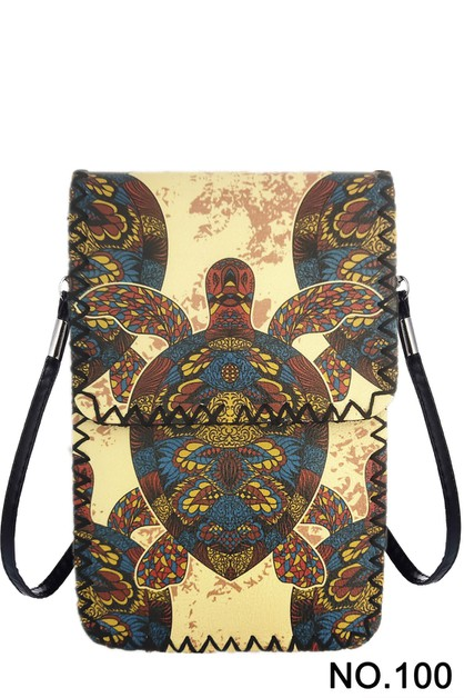 Sea Turtle Printed Crossbody - orangeshine.com