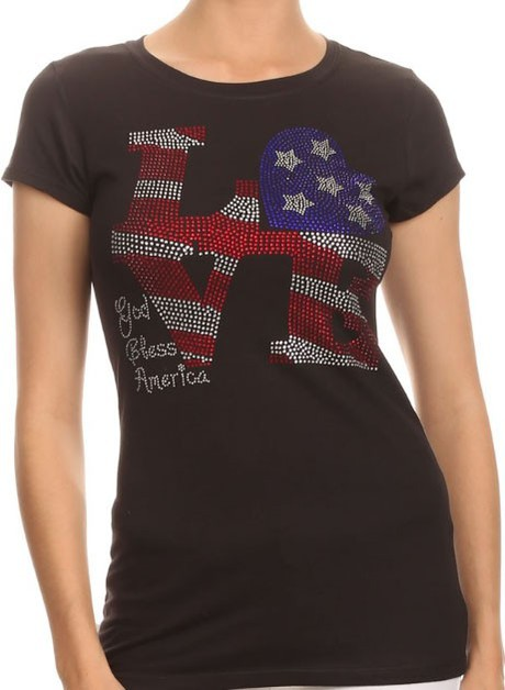 LOVE American Flag - orangeshine.com