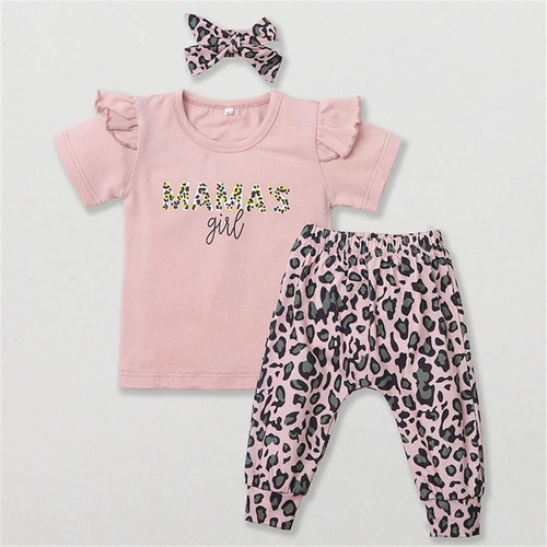 Baby girls 3pc leopard outfit set - orangeshine.com