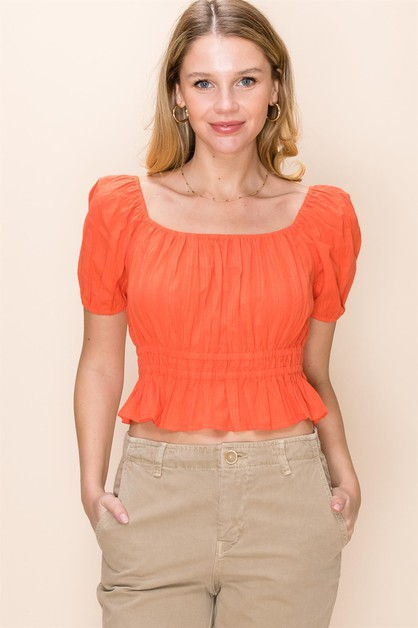 PRINCESS SLEEVE CROP TOP - orangeshine.com