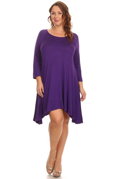 Tunic Dress Top - Plus Size - orangeshine.com