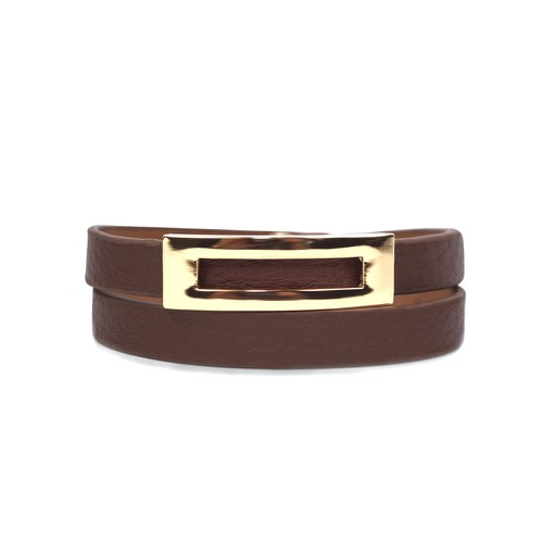 Buckled Leather Bracelet - orangeshine.com