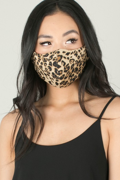 Leopard Face Mask - orangeshine.com