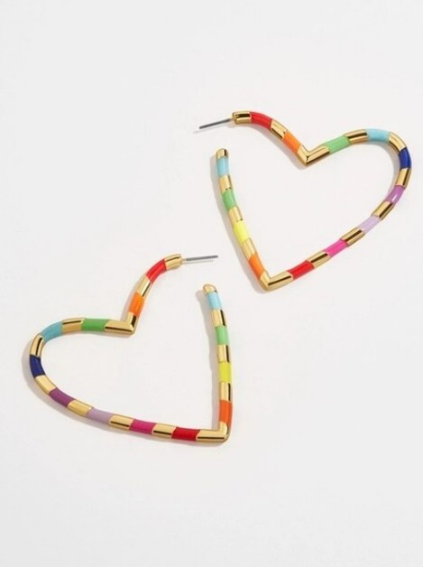 Metal Heart Drop Earring - orangeshine.com
