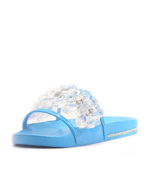 Slip On Beach Bowknot Sandals - orangeshine.com