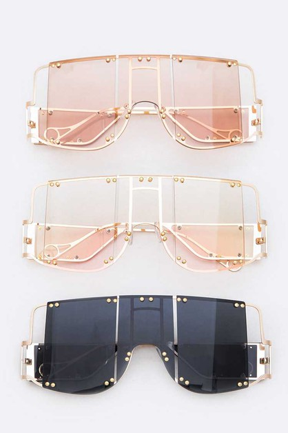Iconic Square Sunglasses Set - orangeshine.com