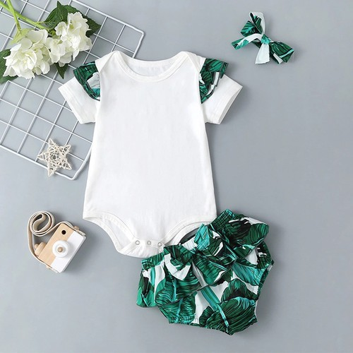 Baby girls 20pc floral outfit set - orangeshine.com