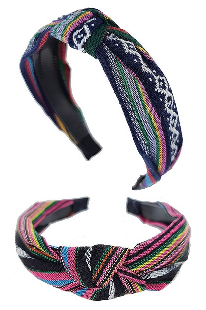 Tribal Center Knotted Headband - orangeshine.com