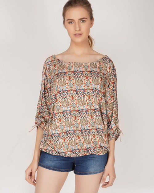 Anika Tie Sleeve Top - orangeshine.com
