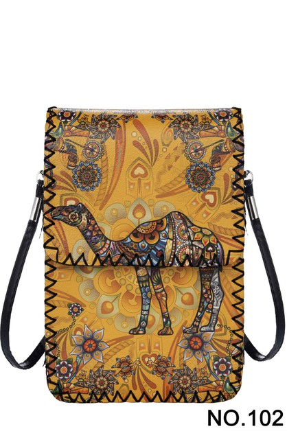 Carmel Printed Crossbody - orangeshine.com