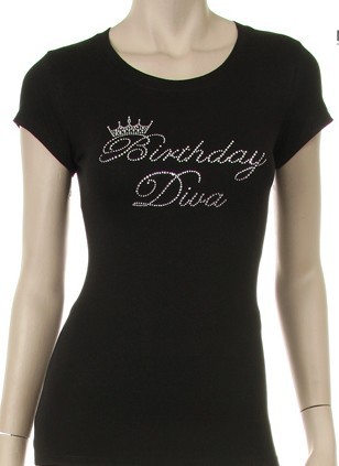 Birthday Diva with Crown  - orangeshine.com