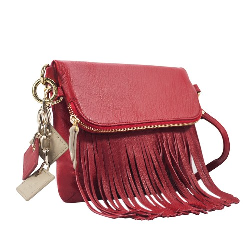 Flamingo Leather Fringe Bag - orangeshine.com