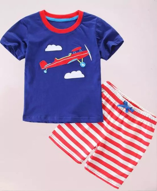 Boys 2 pc plane shorts set - orangeshine.com