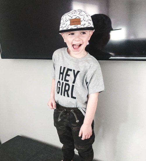 Hey Girl Kid Tee - orangeshine.com