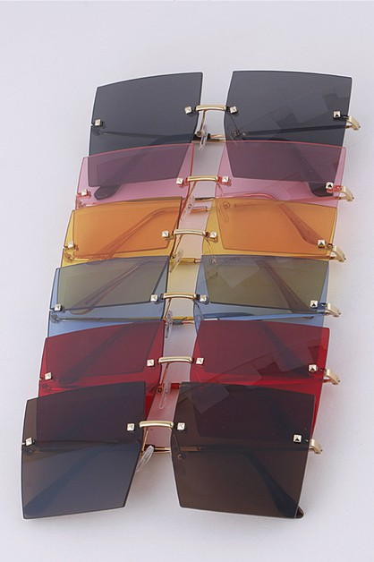 Square Color Tint Iconic Sunglasses  - orangeshine.com