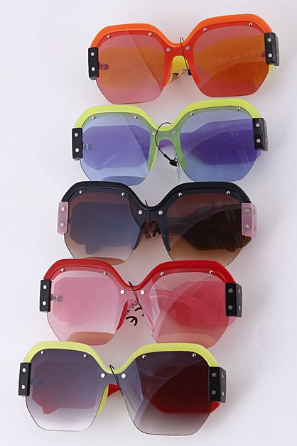 Iconic Pop Color Framed Sunglasses - orangeshine.com