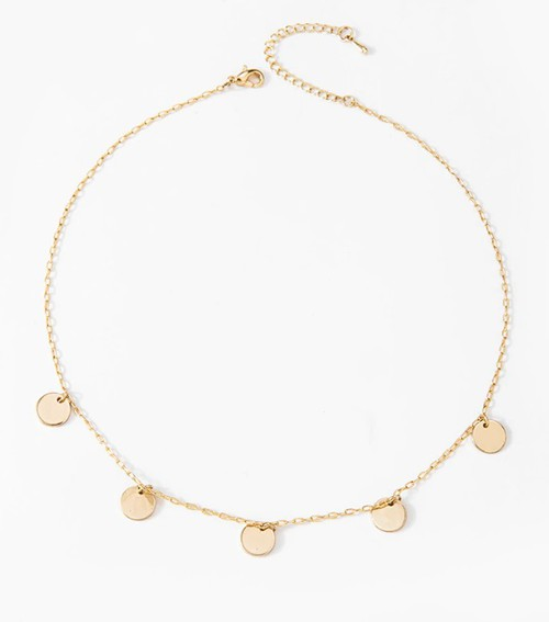 Gold Sequins Coin Tassel Choker Neck - orangeshine.com