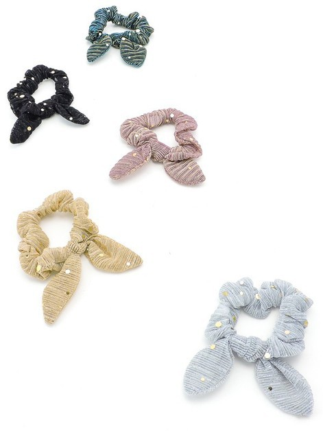 Sequin Chiffon Scrunchie Bows - orangeshine.com
