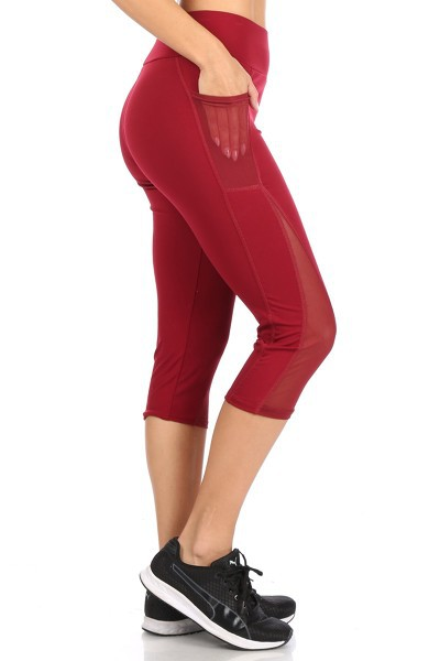 Mesh Capris Leggings Yoga Pants - orangeshine.com
