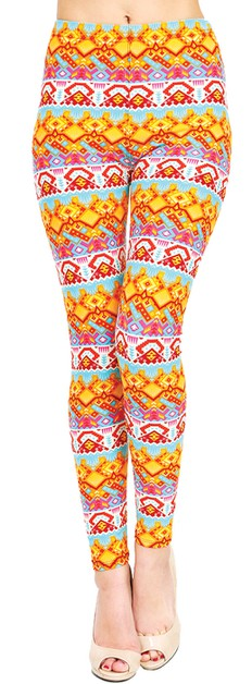 Printed Leggings - orangeshine.com